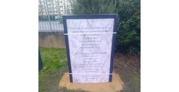 Exemple de gravures sur un monument funéraire