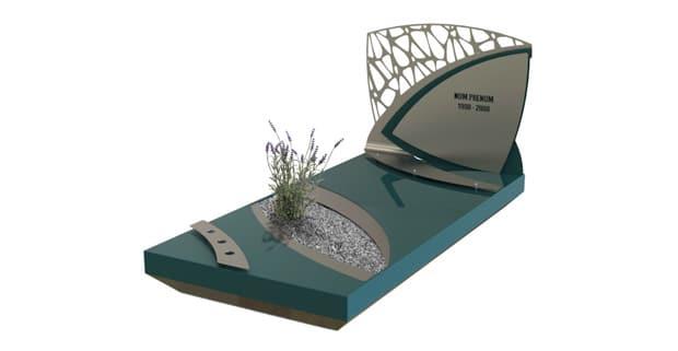 Un de nos monuments funéraires en Inox Marin.