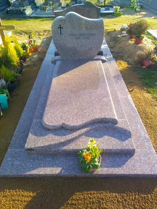 Concept marbre - monument funéraire gris